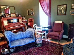 The parlor is a great place to relax, do a puzzle, or visit